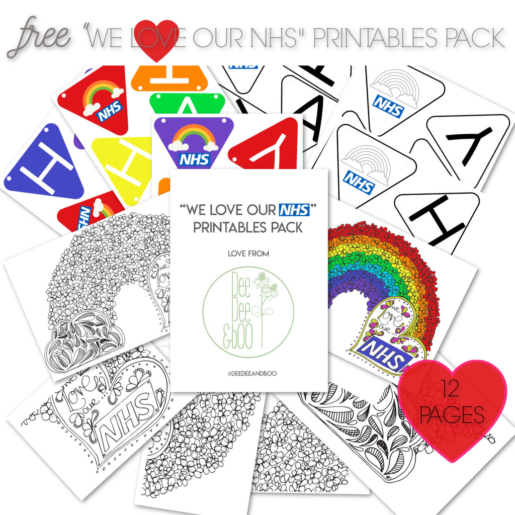 "Free ""We love our NHS"" printables pack"