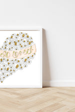 Load image into Gallery viewer, 'You are so loved' Daisies Heart Print.