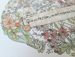 Load image into Gallery viewer, Vintage flowers Heart quote print