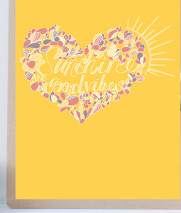 Sunshine and Good vibes heart print