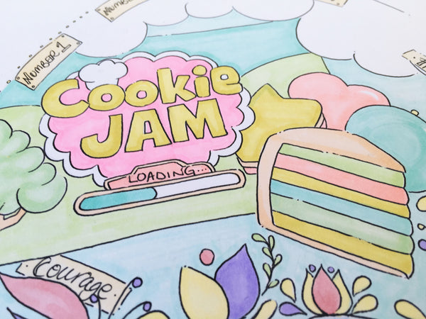 Cookie Jam, Time Team, Crocus Heart Illustration