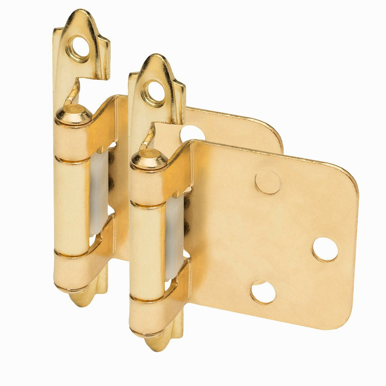 Cosmas 15539-BB Brushed Brass Hinge Variable Overlay (Pair)