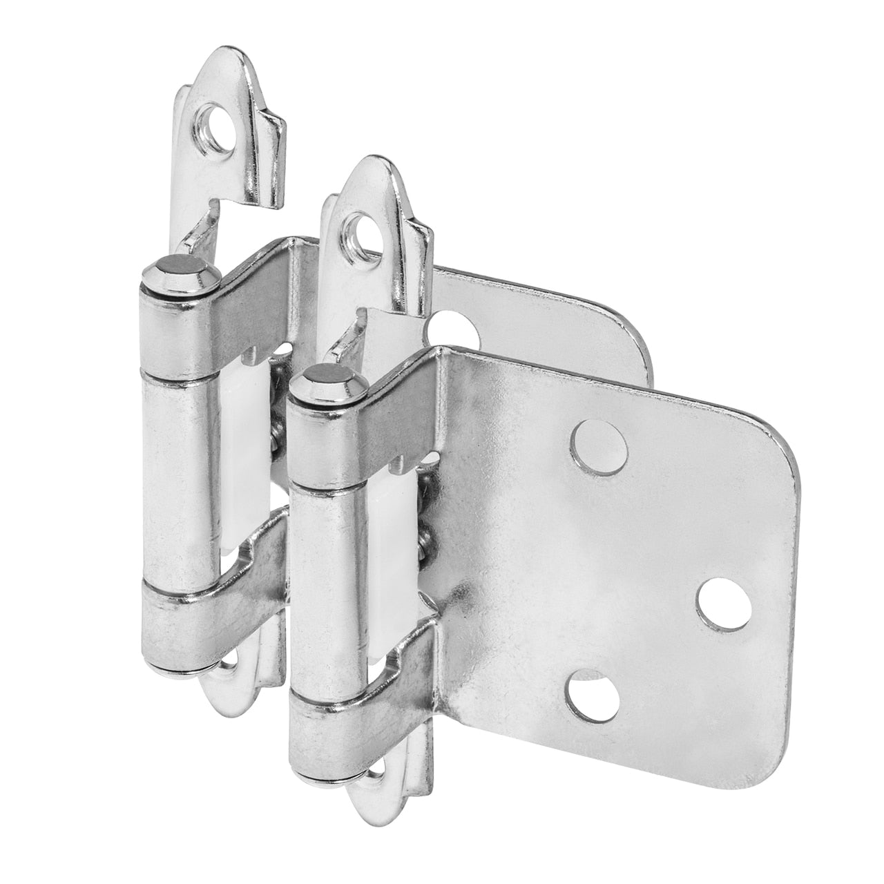 Cosmas 15539-CH Polished Chrome Hinge Variable Overlay (Pair)