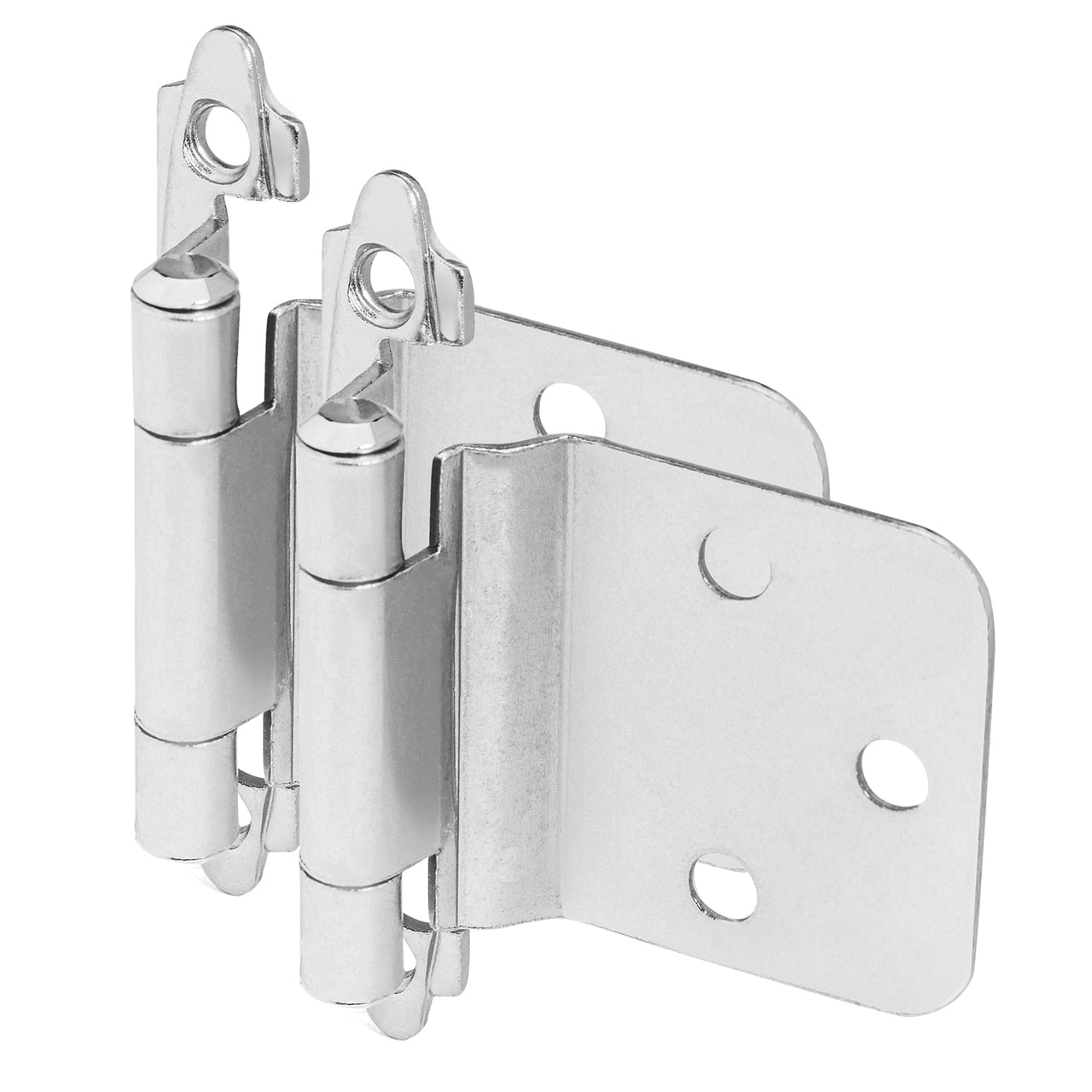 Cosmas 16890-SN Satin Nickel Hinge Variable Overlay with 30 Degree Reverse Bevel (Pair)