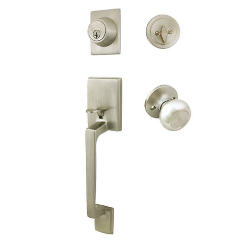 Cosmas 600 Series Satin Nickel Handleset with 20 Series Interior - Cosmas