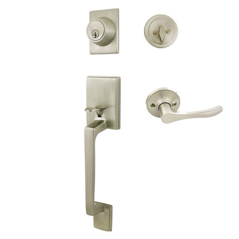 Cosmas 600 Series Satin Nickel Handleset with 30 Series Interior - Cosmas
