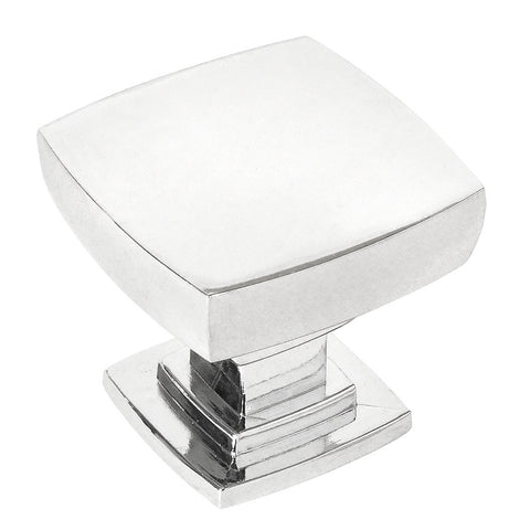 Cosmas 5232CH Polished Chrome Square Contemporary Cabinet Knob - Cosmas