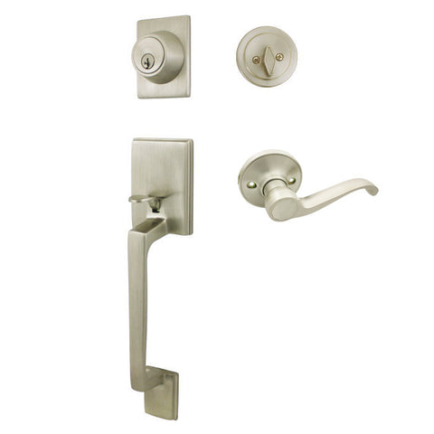Cosmas 600 Series Satin Nickel Handleset with 50 Series Interior - Cosmas