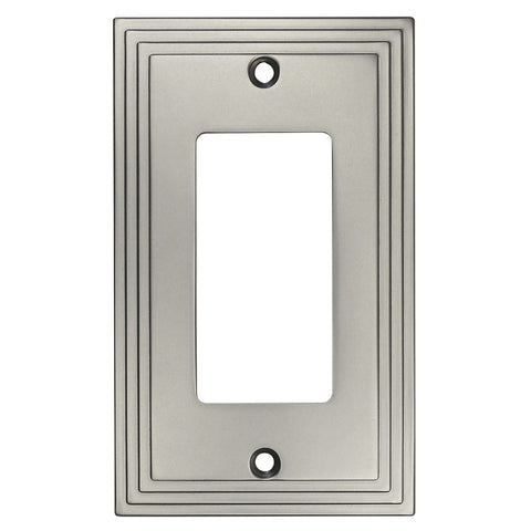 Cosmas 25000 Sn Satin Nickel Single Gfci Decora Wall Plate