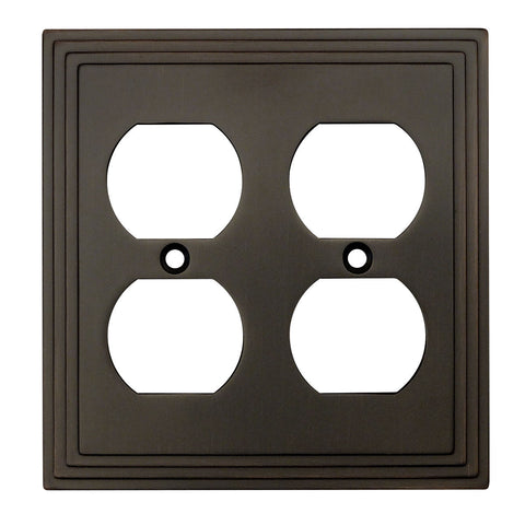 Cosmas 25012 ORB Oil Rubbed Bronze Double Duplex Outlet Wall Plate