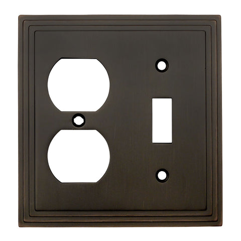 Cosmas 25068-ORB Oil Rubbed Bronze Single Toggle / Duplex Combo