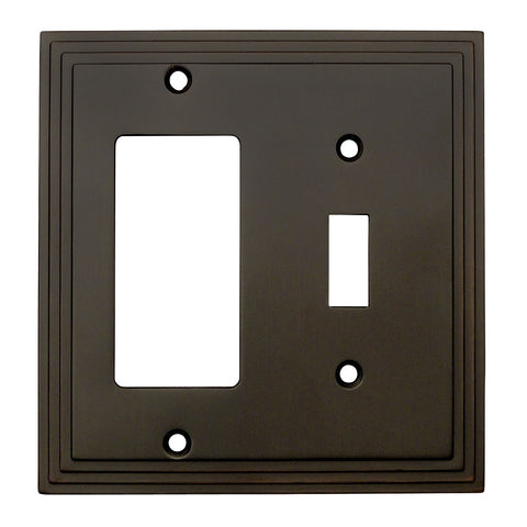 Cosmas 25077-ORB Oil Rubbed Bronze Single Toggle / GFCI Decora Combo