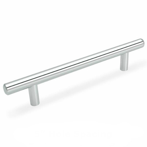 Cosmas 305-128CH Polished Chrome Euro Style Bar Pull