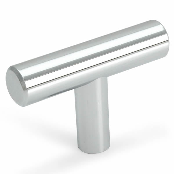 Cosmas 305CH Polished Chrome Euro Style T Bar Knob - Cosmas