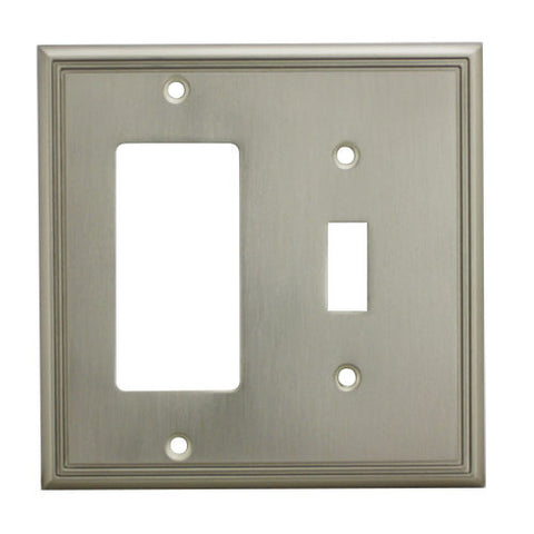 Cosmas 65027-SN Satin Nickel Single Toggle / GFCI Decora Combo - Cosmas