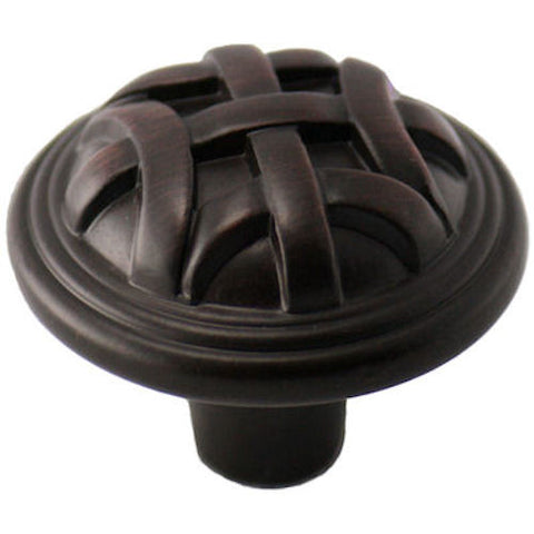 Cosmas 7064ORB Oil Rubbed Bronze Braided Cabinet Knob - Cosmas