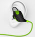 Bluetooth Sports Stereo Earphones, Deep Bass, built-in Handsfree Mic, Noise Cancellation, Green-Bluetooth Headphone Earphone Wireless Handsfree Universal for iphone and Android phones-BM-Q9-V2-GRN-CurioCity-India