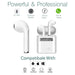 Bluetooth Stereo Earbuds with Charging Dock, Noise Cancel Handsfree Mic, HD sound - iPhone, Android-Bluetooth Headphone Earphone Wireless Handsfree Universal for iphone and Android phones-BM-MINI-V2-ST-CHG-CurioCity-India