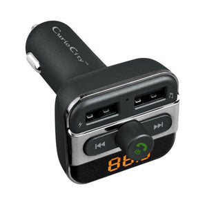 CBT20 Bluetooth Car Handsfree Kit Stereo FM Transmitter, USB Charger, Music from BT/ Micro SD/ USB-Car Handsfree Kit Bluetooth Car Speakerphone with FM Radio Streaming-BM-CARKIT-BT20-CurioCity-India