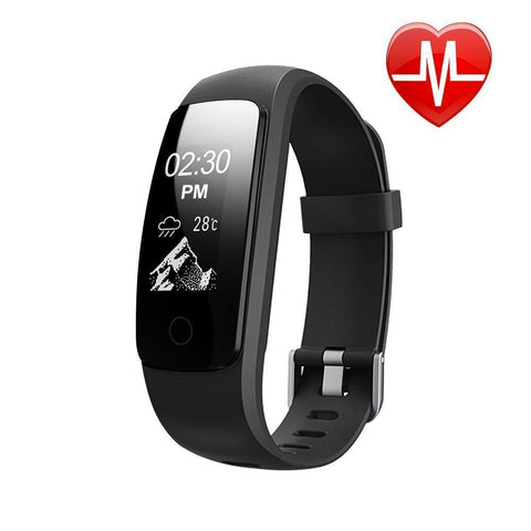 CD107HR Advanced Bluetooth fitness tracker Health Band with Heart Rate Monitor for Android, iPhone-Smart Fitness Band Health, Activity, Sleep Tracker-CD107HR-BLK-CurioCity-India
