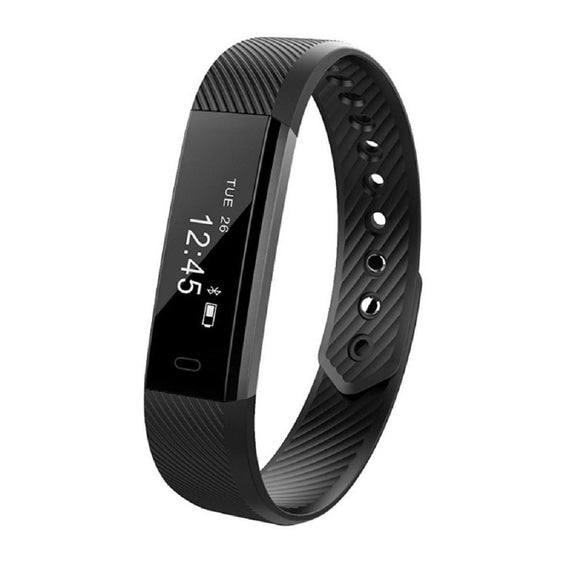CD115 Bluetooth Fitness Smart Band Activity Tracker Health Watch Pedometer for Android, iPhone-Smart Fitness Band Health, Activity, Sleep Tracker-BM-CD115-BLK-CurioCity-India