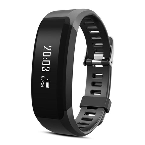 CHR28 Bluetooth Smart Band Fitness Activity Health tracker, Heart Rate Monitor for Android, iPhone-Smart Fitness Band Health, Activity, Sleep Tracker-BM-CHR28-BLK-CurioCity-India