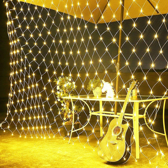 Fairy LED Net Mesh String Lights, 8 Flashing Modes, Decoration for Festivals, Parties & Celebrations-Decor Lights for Festivals, Home, Garden, Restaurants-LIGHT-STRNG-MESH-CurioCity-India