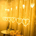 Heart Light Curtain with 8 Flashing Modes Decoration for Wedding, Party, Home, Patio - Warm White-Decor Lights for Festivals, Home, Garden, Restaurants-HEART-CURTN-WWHT-CurioCity-India