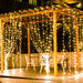 LED Light String Curtain, 8 Flashing Modes, Decoration for Wedding, Party, Home, Patio – Warm White-Decor Lights for Festivals, Home, Garden, Restaurants-LED-CURTN-WWHT-CurioCity-India
