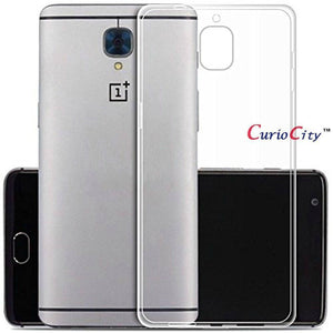 Slim Soft Flexible Transparent Crystal Clear Back Case Cover for OnePlus Three / One Plus 3-Mobile Phone Case Protective Cover-BM-OP3-TPU-1-CurioCity-India