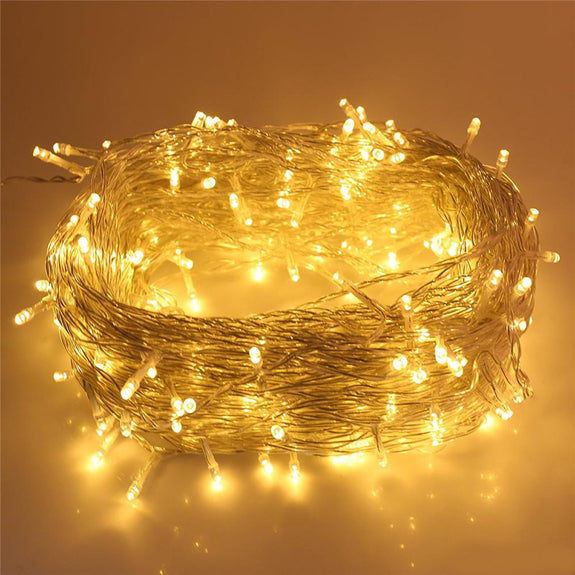 String Lights, 10m, Fairy LEDs, 8 Flashing Modes, Decoration for Festivals, Parties & Celebrations-Decor Lights for Festivals, Home, Garden, Restaurants-LIGHT-STRNG-RICE-10M-CurioCity-India