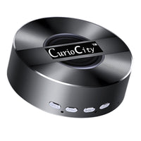 Super Bass Metal Bluetooth Speaker – Phone Music/Handsfree, MicroSD Card Playback, AUX in-Bluetooth Speaker Wireless Handsfree Speakerphone-Black-BM-A5-BLK-CurioCity-India