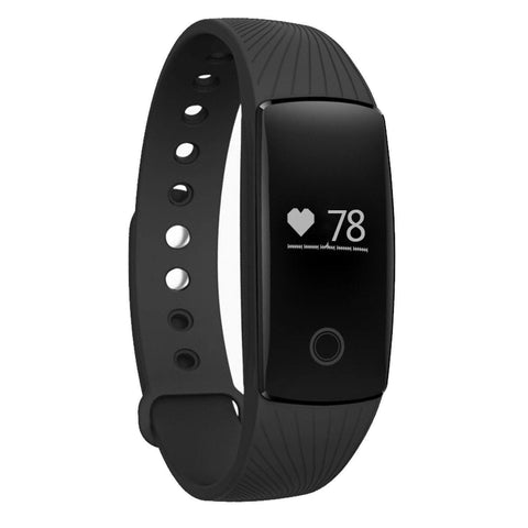 TW09 Multi-Function Fitness Activity and Heart Rate Tracker Bluetooth Smart Band for Android, iPhone-Smart Fitness Band Health, Activity, Sleep Tracker-BM-WCH-TW09-BLK-CurioCity-India