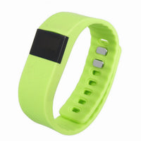 TW64 Bluetooth Smart Band, Fitness Activity Health Tracker with Pedometer for Android/iPhone, Green-Smart Fitness Band Health, Activity, Sleep Tracker-BM-TW-64-GRN-CurioCity-India