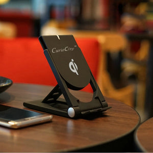 Ultra-Slim Foldable Qi Wireless charger, for Samsung Galaxy, iPhone X/ 8/ 8Plus, and other Phones-Qi Wireless Mobile Phone Charger-BM-CHG-WLS-STD-CurioCity-India