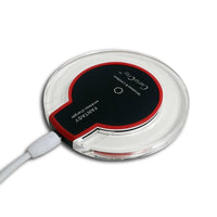 Ultra-Slim Qi Wireless charger, Portable UFO, for All Qi-Enabled Phones – Black with Red Edges-Qi Wireless Mobile Phone Charger-BM-CHG-WLS-BLKRD-CurioCity-India