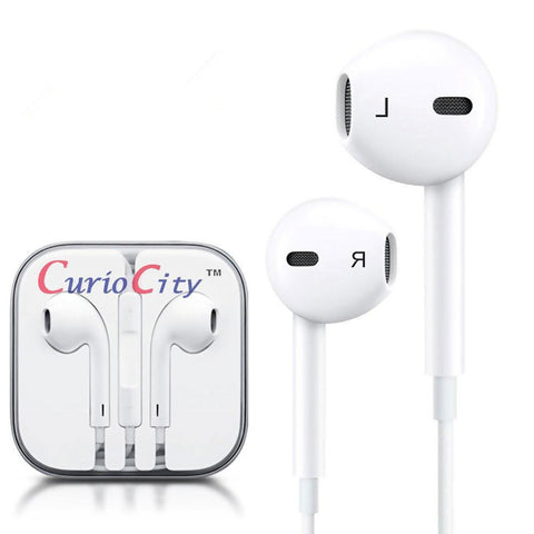 Universal Stereo Handsfree Earphones with Mic, for iPhone, Samsung Galaxy, all Android phones, White-Handsfree Headphone Earphone Universal for iphone and Android phones like Samsung, Lenovo-BM-EPOD-WHT-CurioCity-India