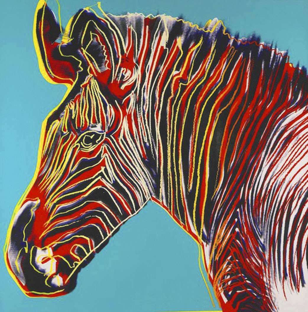 Grevy's Zebra by Andy Warhol, Part of the Endangered Species Series