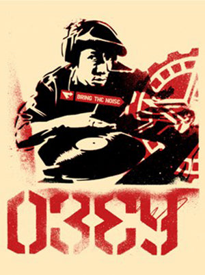BRING THE NOISE, 2002  by Frank Shepard Fairey (Obey)