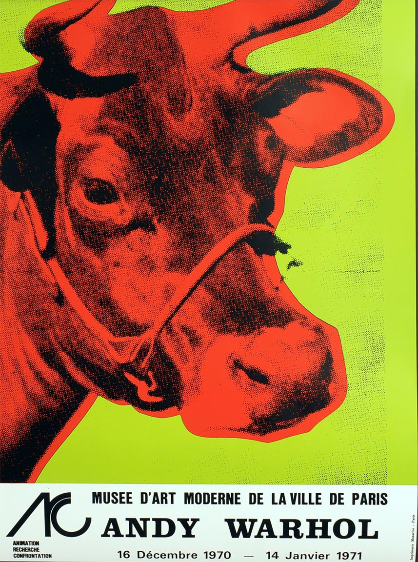 ANDY WARHOL GREEN COW