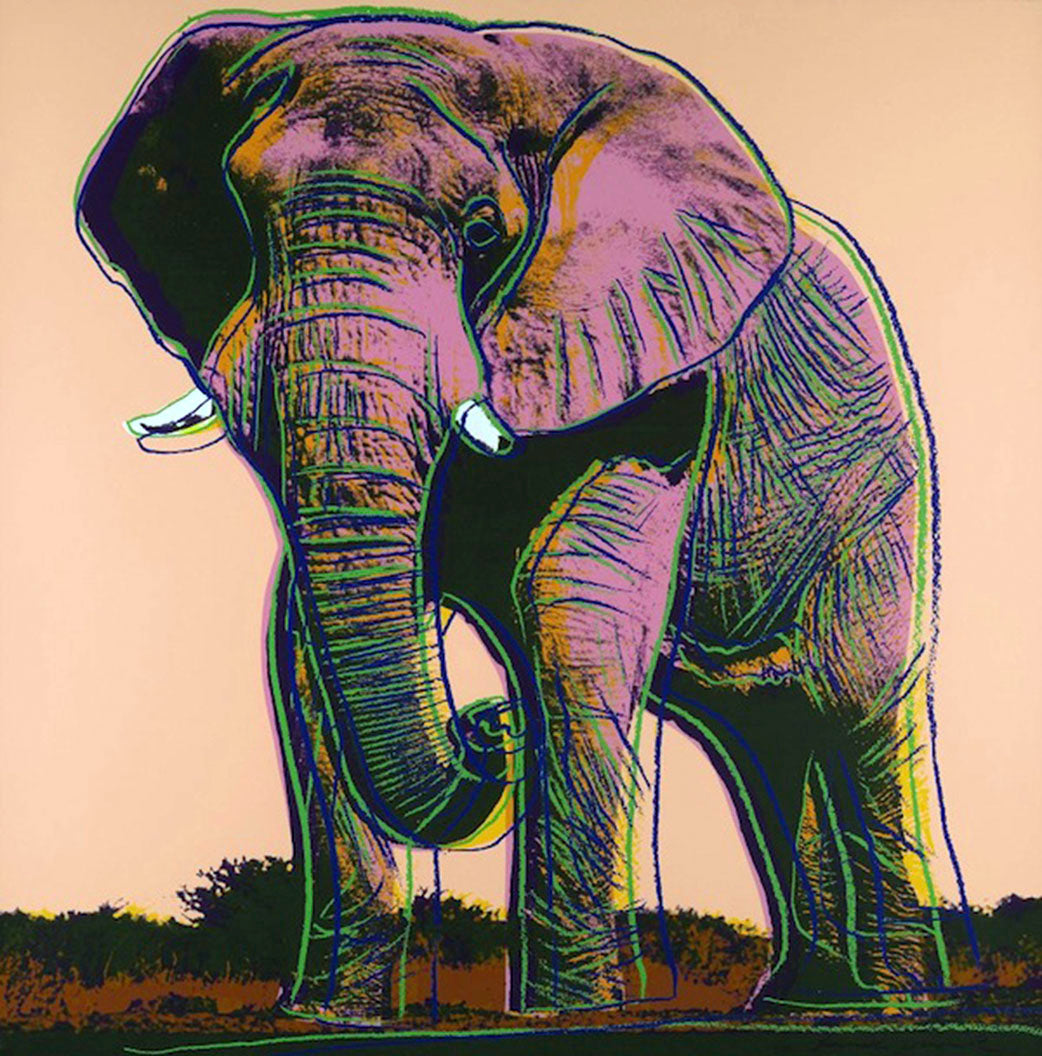 AFRICAN ELEPHANT from Endangered Species Portfolio, 1983 by ANDY Warhol