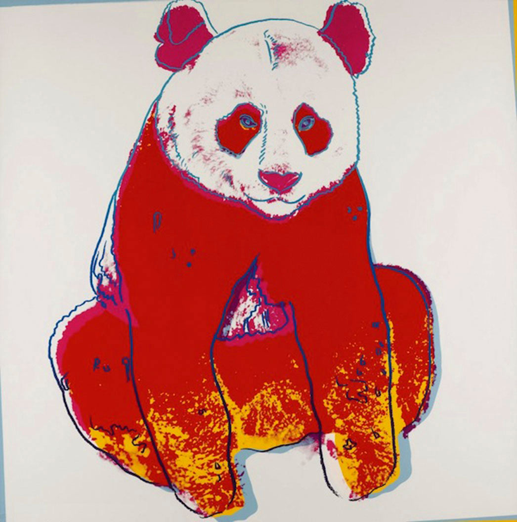 GIANT PANDA from Endangered Species Portfolio, 1983 by ANDY Warhol