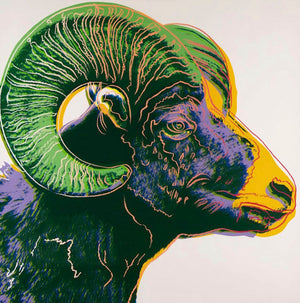 BIGHORN RAM from Endangered Species Portfolio, 1983 by ANDY Warhol