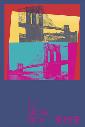 Brooklyn Brigde Poster  by Andy Warhol