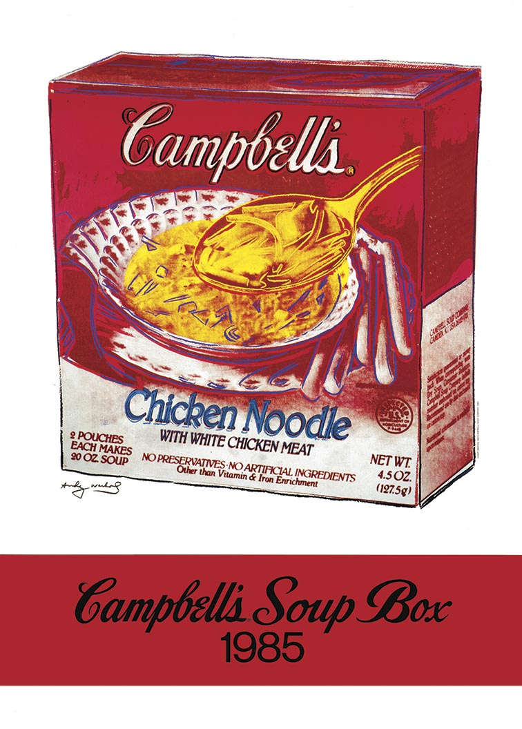 CAMPBELLS SOUP POSTER 1985  by Andy Warhol