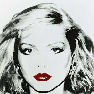 Debbie Harry 1980 white by ANDY Warhol