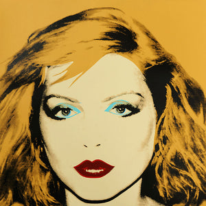 Debbie Harry 1980 yellow by ANDY Warhol