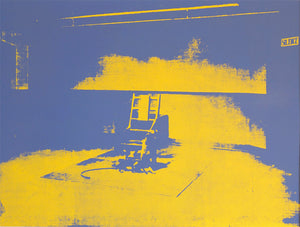 Electric Chair, blue, 1971 by ANDY WARHOL