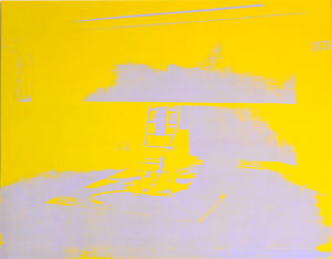 Electric Chair, yellow, 1971 by ANDY WARHOL