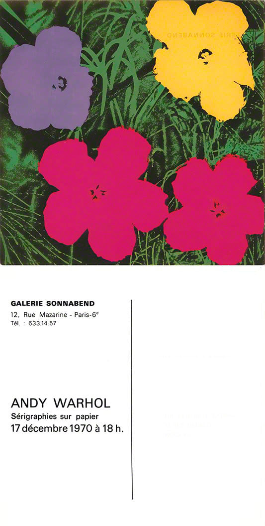 FLOWERS, 1970 by ANDY WARHOL